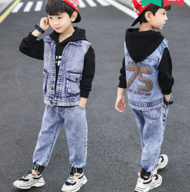Джинсовый костюм на мальчика 75(джинсы и жилетка), фото 2