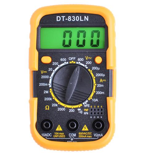 Цифровой мультиметр тестер UK-830LN в комплекте  щупы и батарейка мультиметр с кроной