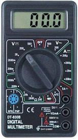 Цифровий мультиметр тестер вольтметр DT-830B з щупами і кроною мультиметр з кроною
