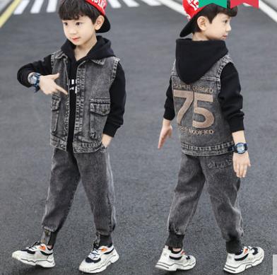 Джинсовий костюм на хлопчика 75(джинси, світшот і жилетка), фото 2
