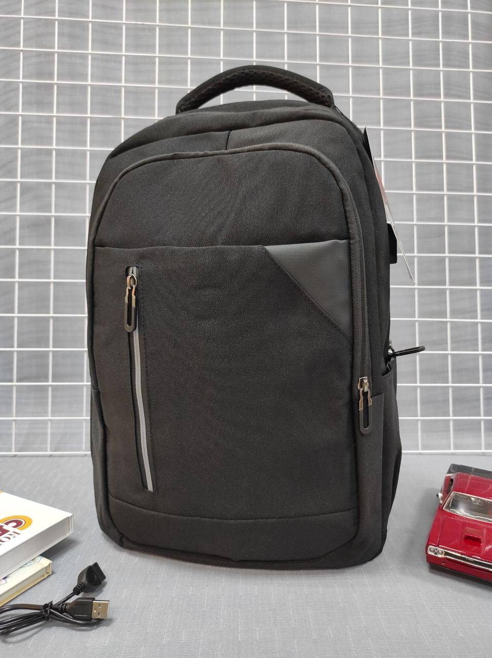Рюкзак с USB портом для школы 44*28*13 см