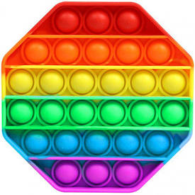 М'яка іграшка Пупиришки Pop it Поп іт антистрес нескінченна пупырка восьмикутник