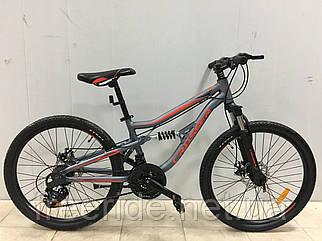Підлітковий Велосипед Crosser Legion 24 (13) сіро-червоний