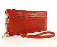 Клатч - кошелек женский натуральная кожа красный Louis Vuitton 1870