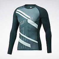 Чоловіча компресійна футболка Reebok Printed Compression LS(Артикул:GL3113)