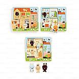 DJECO трехслойный пазл головоломка  Дом зайчат, фото 3