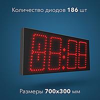 Часы-термометр светодиодные С-002