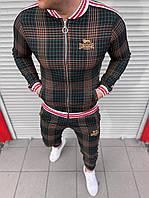 Мужской спортивный костюм тренера Lonsdale зеленого цвета
