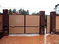 Система распашных ворот