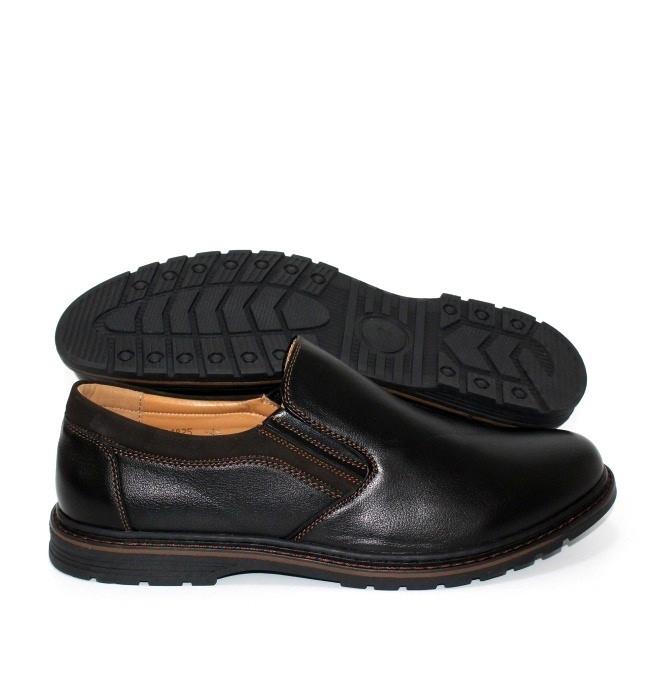 Класичні чоловічі туфлі без шнурівки на гумці