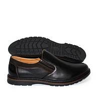 Класичні чоловічі туфлі без шнурівки на гумці, фото 1