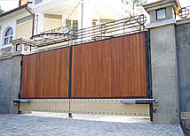 Ворота распашные деревянные