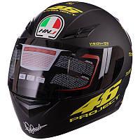 Мотошолом, шолом для мотоцикла Project SP Sport M-601-1 розмір XL 61-62 чорний матовий, фото 1