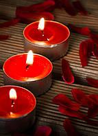 Свечи чайные 10 шт. уп. красного цвета