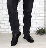 Мужские туфли классические черного цвета на шнуровке  большого размера 46-49, фото 1