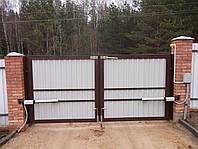 Распашные ворот для дачи