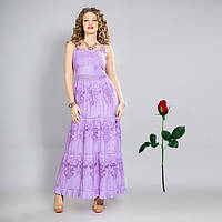 Платье - сарафан  пол из прошвы IN 15054 Фиолет
