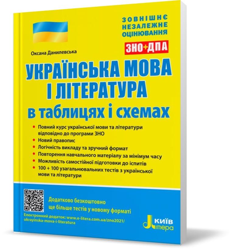 ЗНО 2021. Українська мова і література в таблицях і схемах (Данилевська О. М.), Літера