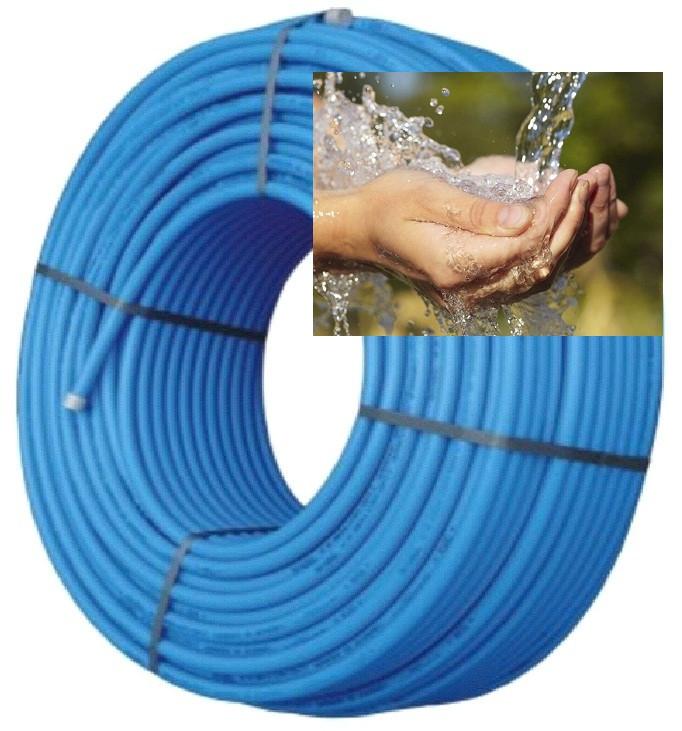 Труба полиэтиленовая 32 мм синяя фтор сырьё 6 атм Стенка 2,4 мм VorsklaPlast