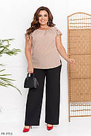 Блуза футболка жіноча натуральна віскоза короткий рукав великі розміри батал р-ри 50-56 арт. 0368, фото 1