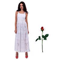 Платье - сарафан  пол из прошвы IN 15054 Белый