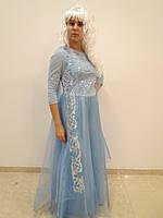 Эльза(ледяное сердце)-взрослый карнавальный костюм, фото 1