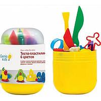 Мини-набор для лепки Тесто-пластилин 6 цветов TA1065