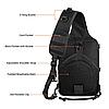Рюкзак тактичний M04 20 л / Чоловіча сумка через плече, фото 5