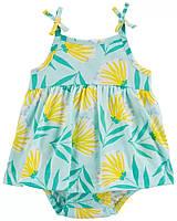 Яскраве боді-платтячко (пісочник) з квітковим принтом для дівчинки Картерс