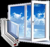 Металлопластиковое двустворчатое окно  WDS (1300*1400)