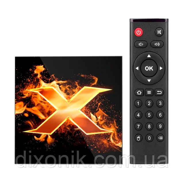 Смарт ТВ-приставка VONTAR X1 Smart TV 4/64Gb Смарт ТВ смарт ТБ приставка на андроїд