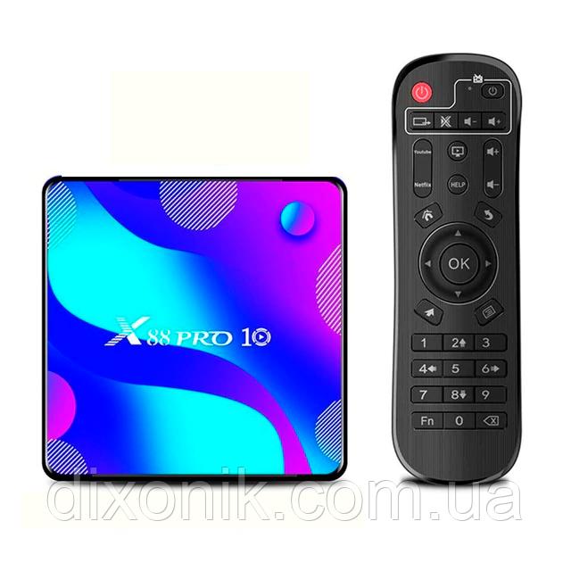 Смарт ТВ приставка Transpeed X88 Pro 10 4/128Gb Smart TV смарт ТБ приставка на андроїд