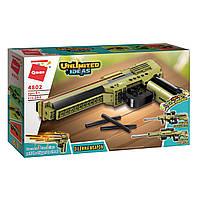 """Конструктор Qman 4802 """"Оружие 3в1. Пистолет, автомат, винтовка"""", 202 дет"""
