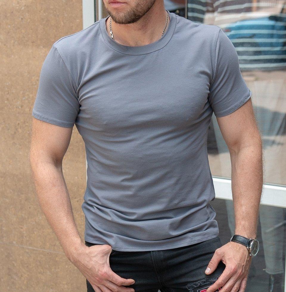 Чоловіча футболка однотонна сіра