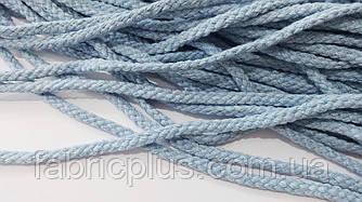 Шнур х/б для толстовок и худи 6 мм голубой