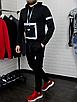 Мужской спортивный костюм чёрныйс рефлективными элементами, фото 2