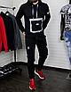 Мужской спортивный костюм чёрныйс рефлективными элементами, фото 3