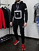 Мужской спортивный костюм чёрныйс рефлективными элементами, фото 5