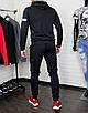 Мужской спортивный костюм чёрныйс рефлективными элементами, фото 6