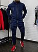 Теплий чоловічий спортивний костюм синього кольору з капюшоном, фото 7