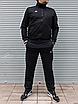 Мужской спортивный костюм Adidas, чёрный ( БАТАЛ ), фото 2