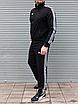 Мужской спортивный костюм Adidas, чёрный ( БАТАЛ ), фото 3