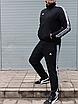 Мужской спортивный костюм Adidas, чёрный ( БАТАЛ ), фото 6
