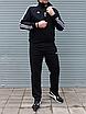Мужской спортивный костюм Adidas, чёрный ( БАТАЛ ), фото 8