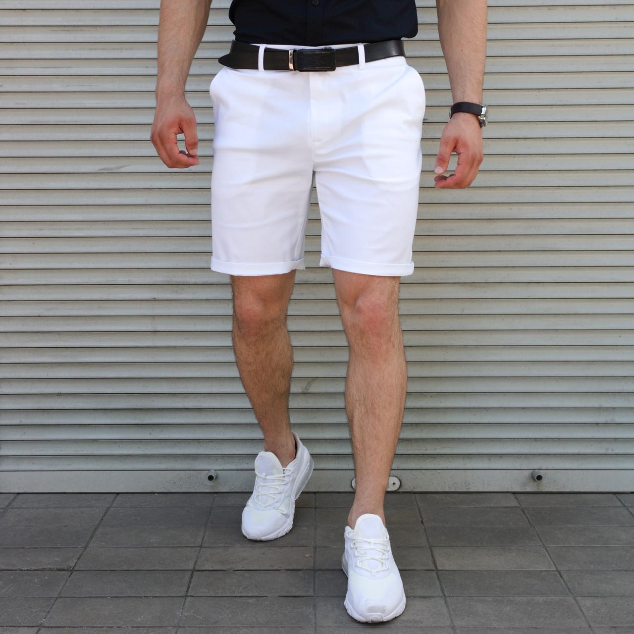 Чоловічі повсякденні шорти чінос з бавовни, білі