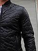 Мужской бобмер утепленный из кожзама, чёрный, фото 5