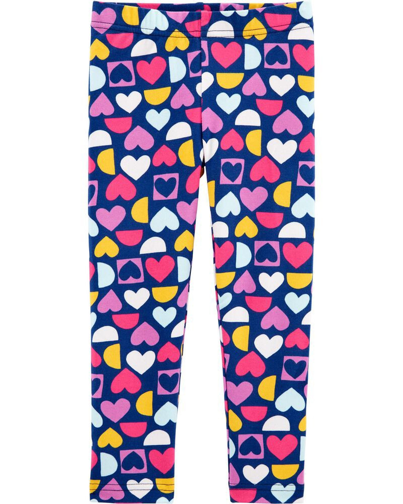 Красиві трикотажні легінси (лосини) з сердечками для дівчинки Картерс