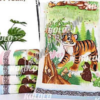 Лицевий рушник велюр-махра Тигр