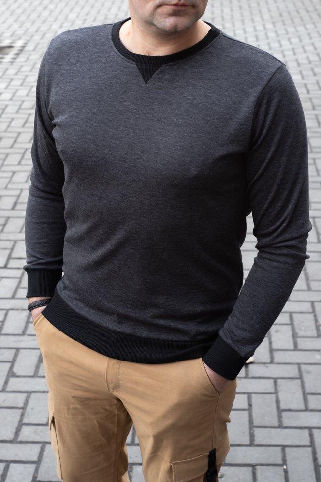 Мужской стильный пуловер серого цвета