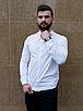 Стильная белая рубашка с коротким воротом, фото 4